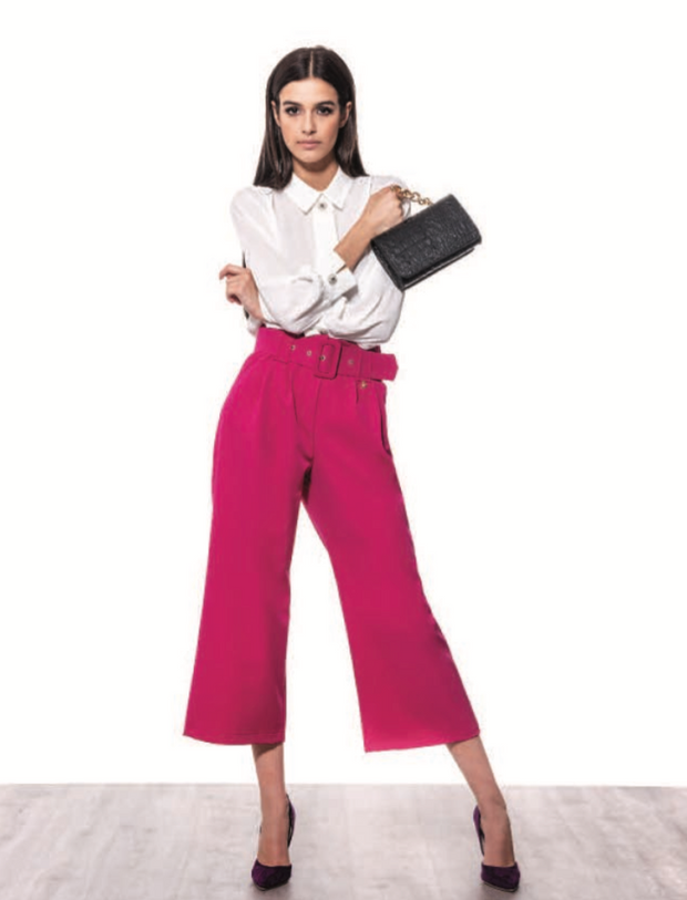 Marylin Cropped Trouser - Pink