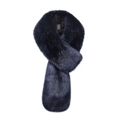 Midnight Faux Fur Loop Scarf