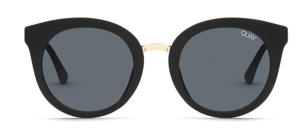 Quay Shook Sunglasses - Matte Black/Smoke Lens