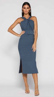 Stacey Dress - Steel