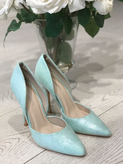 Mint Green Stilletos with Shimmer Detail