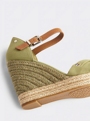 Tommy Hilfiger Basic Opened Toe High Wedge - Faded Olive