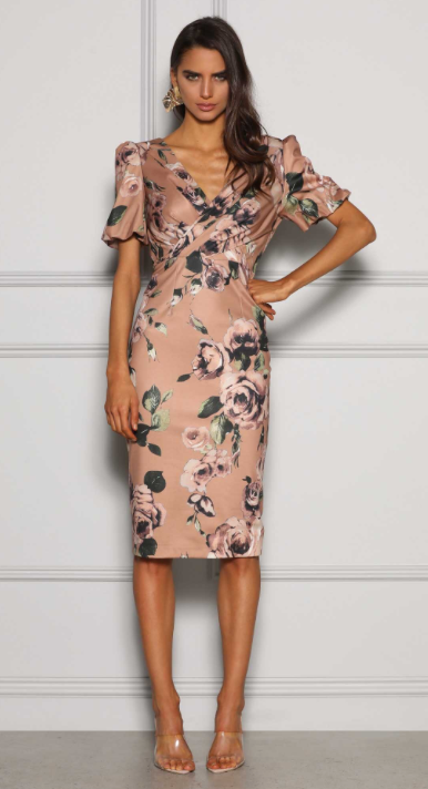 Sydney Puff Sleeve Dress - Vintage Floral