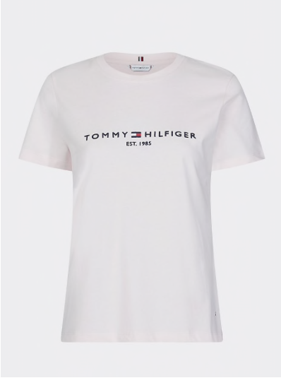 Tommy Hilfiger Essential Organic Cotton T- Shirt - Pale Pink