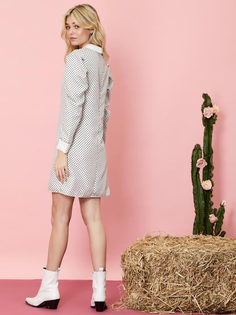 Spots and Stripes Rabbit Dress - Grey
