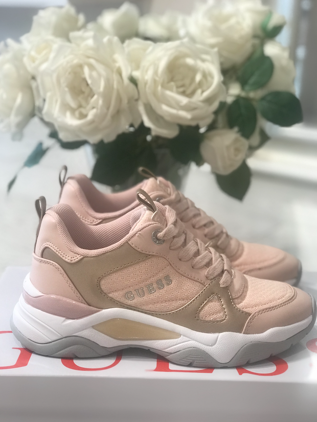 Guess Flaus Active Leather Like Sneaker - Pink Blush