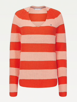 Tommy Hilfiger Hayana V-Neck Sweater - Island Coral
