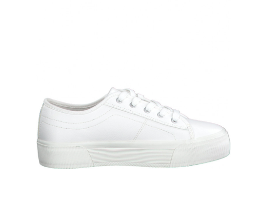 Lace Up Flatform Sneaker - Off White