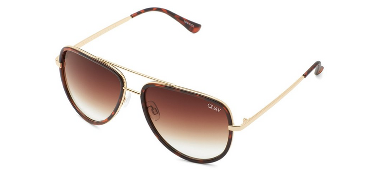 Quay All In Sunglasses - Tortoise/Brown Fade