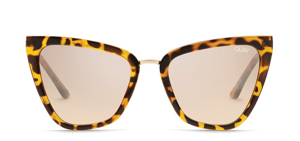 Quay Reina Sunglasses - Tortoise/Brown Flash