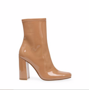 Steve Madden Fulton Camel Patent Boots