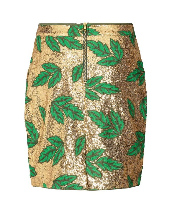 Aqua Skirt - Gold/Green