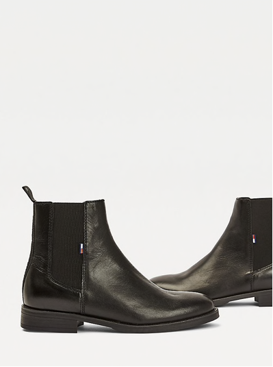 Essential Leather Chelsea Boots Tommy Jeans- Black