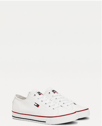Vulcanised Low Top Trainers - White