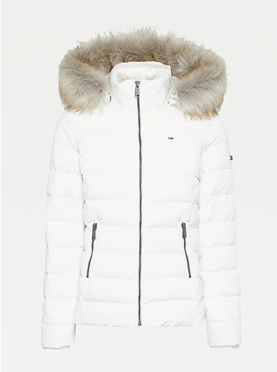 Tommy Hilfiger Essential Down Filled Hooded Jacket - White