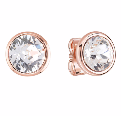 Guess Miami Crystal Clear Studs - Rose Gold