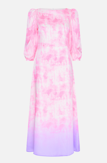 Olivia Rubin Lara Tie Dye Silk Midi Dress
