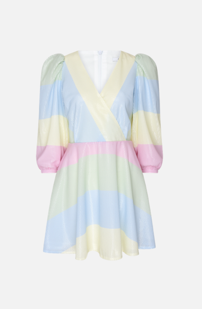 Olivia Rubin Amber Pastel Stripe Sequin Dress