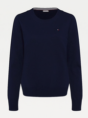 Tommy Hilfiger Pure Cotton Crew Neck Jumper - Desert Sky