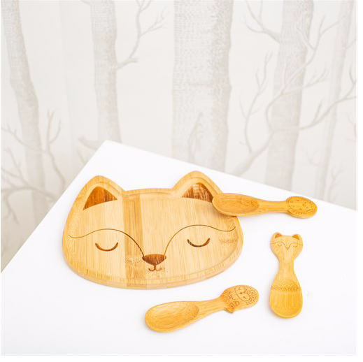 Woodland Fox Bamboo Plate