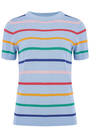 Anoki Knitted Tee - Light Blue Daytripper Stripes