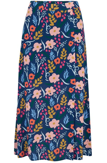 Laurel Skirt - Blue Painted Floral