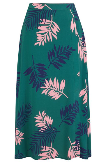 Laurel Skirt - Green Grand Palm