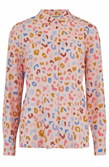 Joy Shirt - Pink Arthouse Leopard