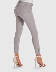 Cooper Grey Denim Fitted Stretch Skinny Jeans