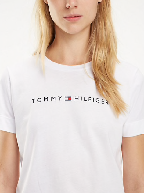 Tommy Hilfiger Essential Crew Neck Printed T-Shirt - White