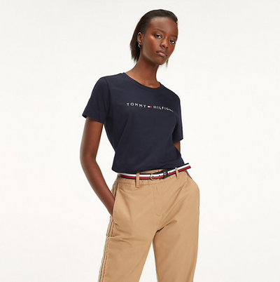 Tommy Hilfiger Essential Crew Neck Printed T-Shirt - Midnight