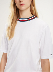 Tira Rib-Knit Collar T-Shirt