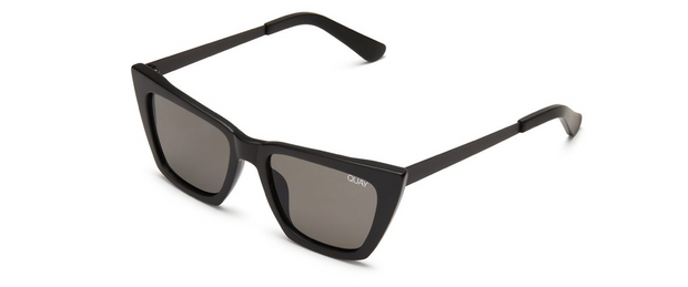 Don't @ Me Sunglasses - Black/Smoke