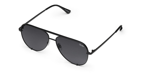 High Key Sunglasses - Black/Smoke