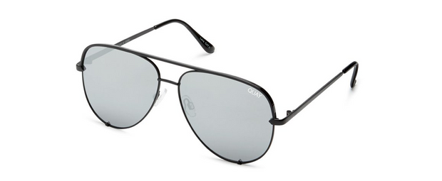High Key Sunglasses - Black/Silver