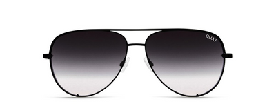High Key Mini Sunglasses - Black/Smoke Fade