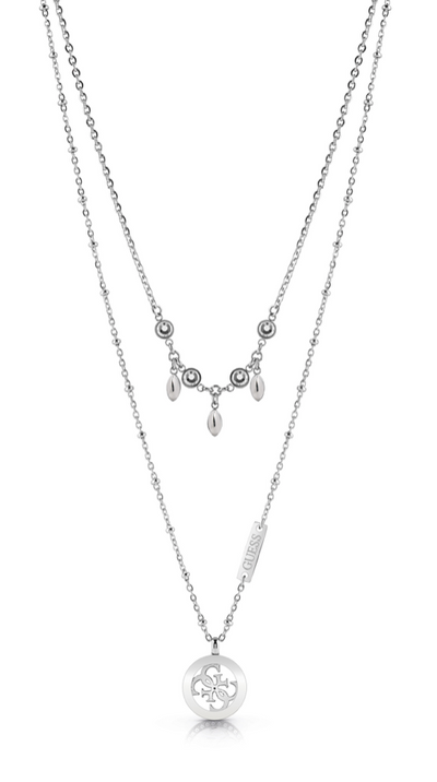 Guess Tropical Sun 15-17 Inch Necklace - Silver