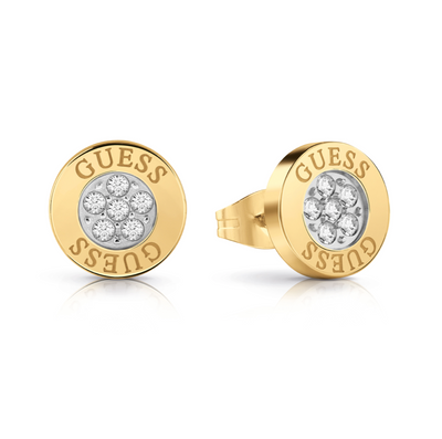 Guess Love Knot Button Earrings - Gold