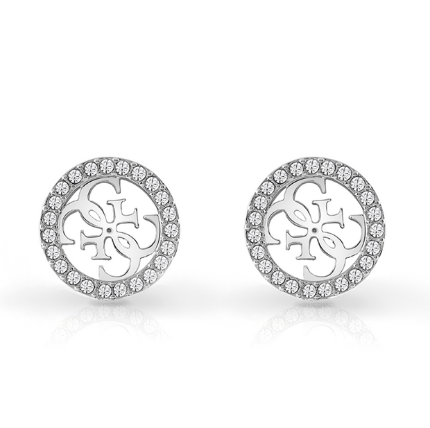 Guess Tropical Sun Crystal Earrings - Silver