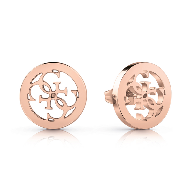 Guess Tropical Sun Plain Earrings - Rose Gold