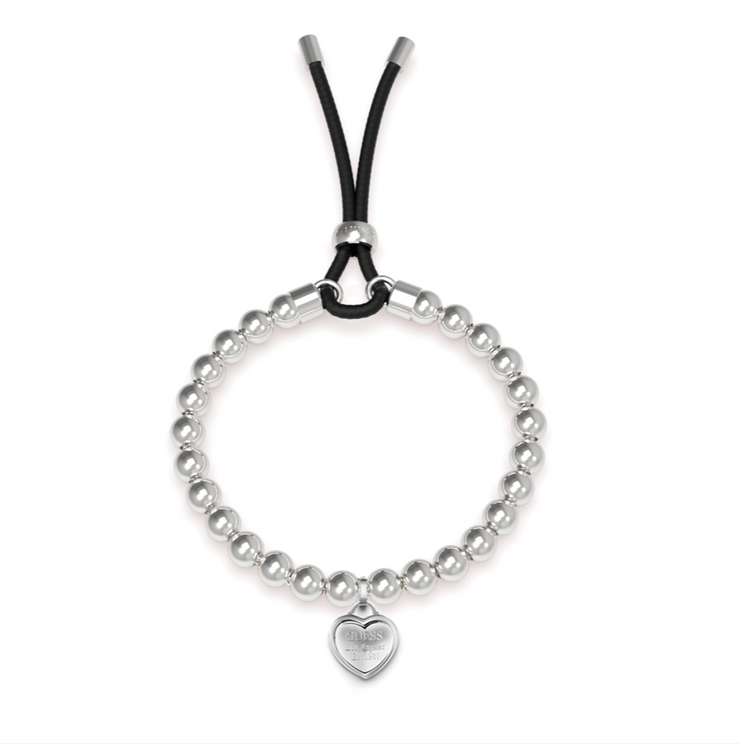 Guess Be My Friend Beaded Bracelet - Silver