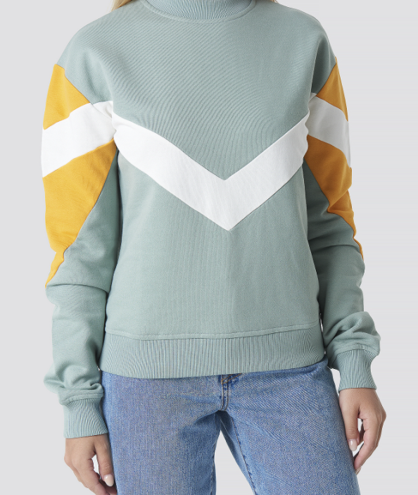 Colour Block Sweater - Duck Green