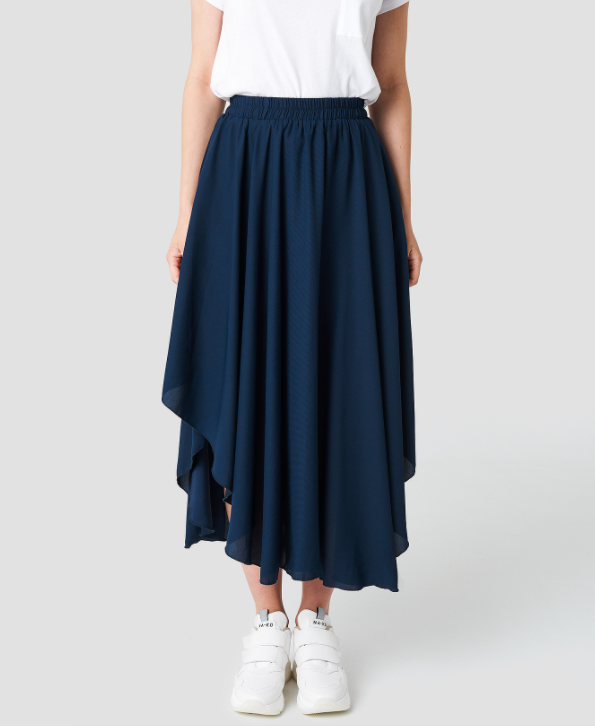Asymmetric Skirt - Dark Navy