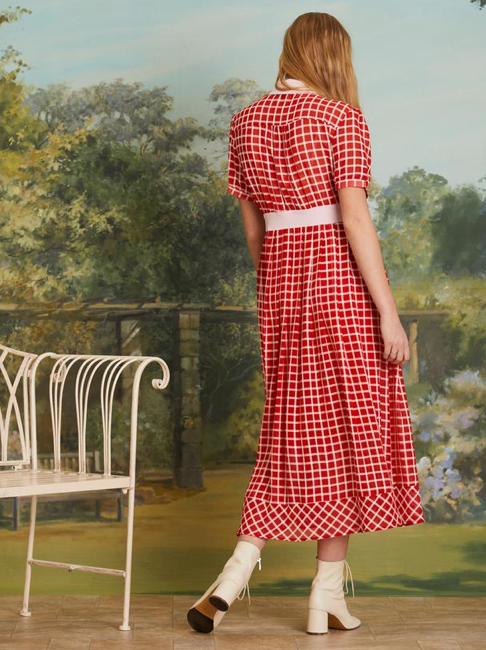 Ladybird Check Midi Dress