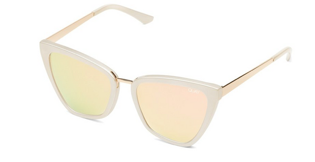 Quay Reina Sunglasses - Pearl/Rose Gold