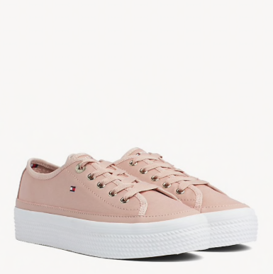 Tommy Hilfiger Flatform Sneaker - Dusty Rose