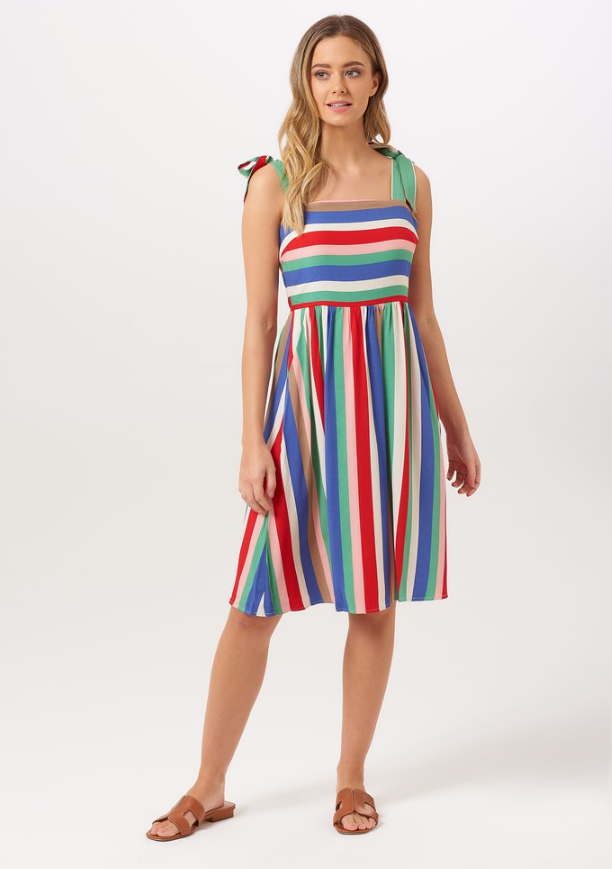 Miriam Cabana Stripe Sundress