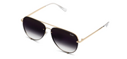 High Key Mini Rimless Sunglasses - Gold/Fade