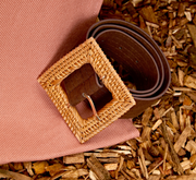 Firestarter Straw Buckle Belt - Brown