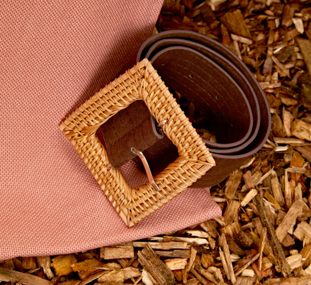 Firestarter Straw Buckle Belt
